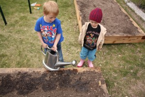 Simon and Gus Planting