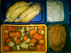 Turkey Bagel, Potatoes, Carrots & More