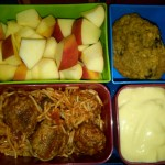Spaghetti and Quorn Meatballs, Yogurt and More