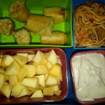 Chicken Spring Roll, Diced Apples and More