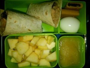 Chicken and Black Bean Burrito, Hard-Boiled Egg and More
