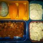 Lasagna, Hard-Boiled Egg and More