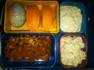 Lasagna, Hard-Boiled Egg and More