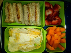Quesadilla, Strawberries and More