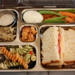 Turkey, Tomato and Cheese Sandwich, Beans and More
