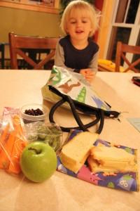 Apple, Carrots, Quorn Sandwich
