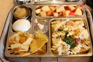 Pasta Salad, Chips and Hummus and More
