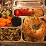 Bagel Sandwich, Carrot Bits and More