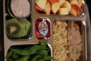 Santa hearts rice