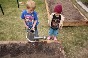 Simon and Gus Planting