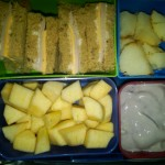 Turkey and Veggie Cheese Sandwich, Apples and More