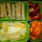 Quesadilla, Strawberries and More