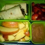 Bean and Veggie Cheese Burrito, Applesauce and More